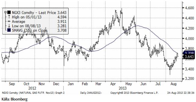 Analys på naturgaspriset