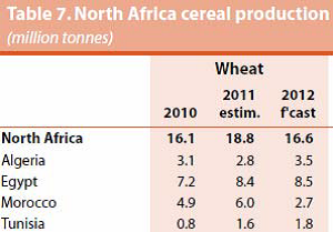 North Africa cereal production