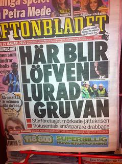 Gruvbolaget Northland Resources i Aftonbladet