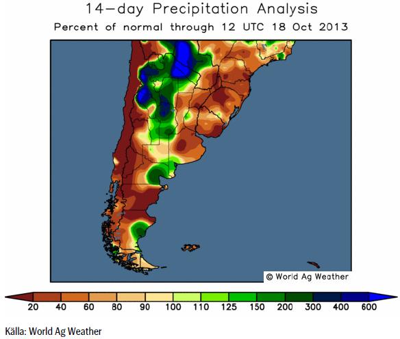 Odlingsväder i Sydamerika