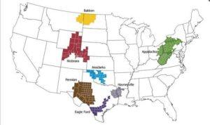 US shale oil regions