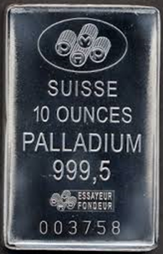 Investeringstacka på 10 ounces palladium