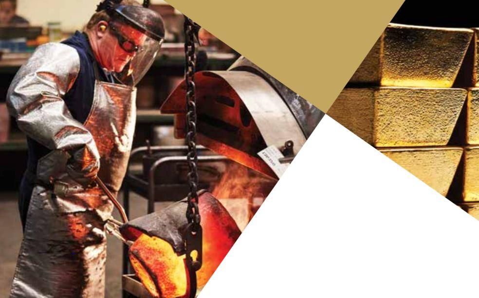 The Perth Mint bearbetar guld