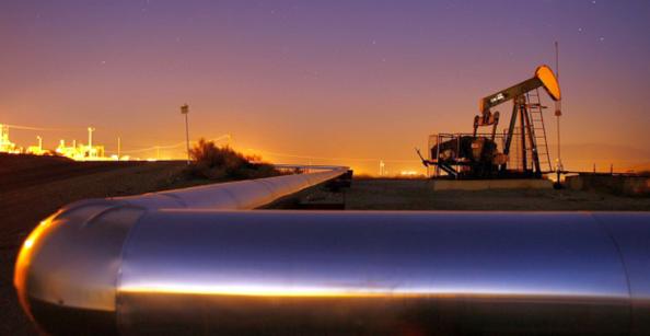 Pipeline med olja