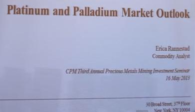 Platina- och palladium-marknaden år 2013