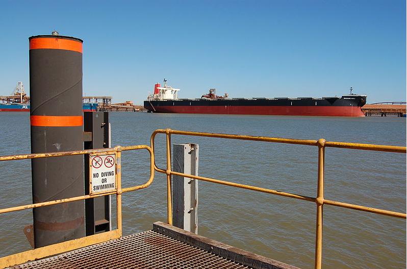 Port Hedland i Australien exporterar järnmalm