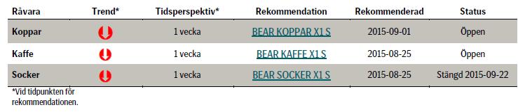 Investeringar rekommenderas