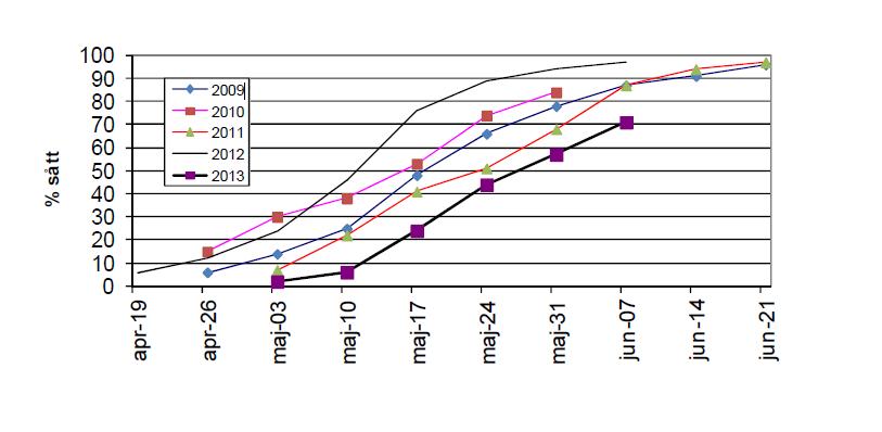 Såddens utveckling för sojabönor