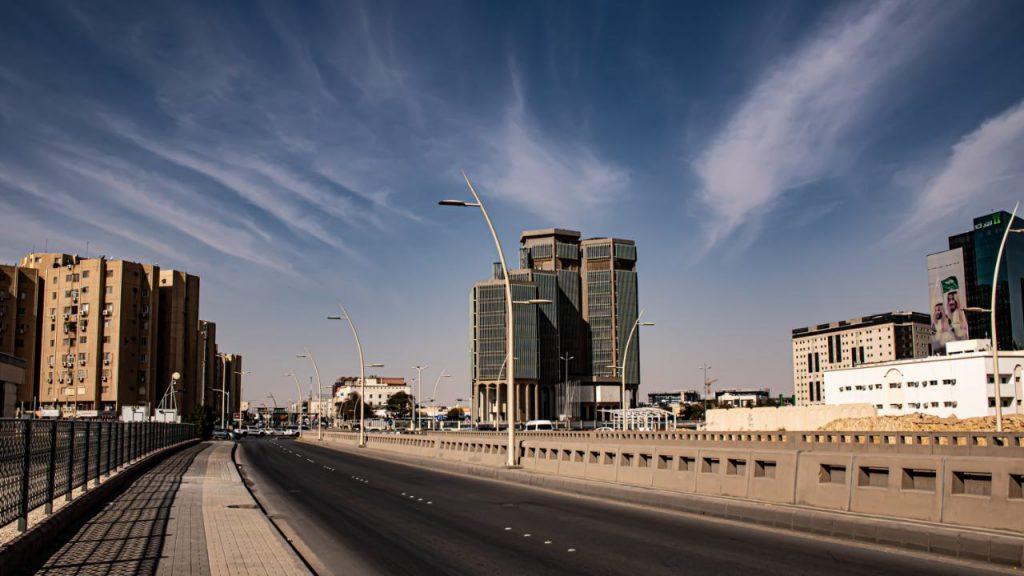 Tom väg i Saudiarabien