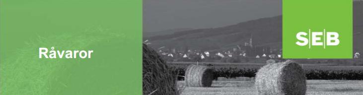 SEB - Analysbrev om råvaror inklusive prognoser