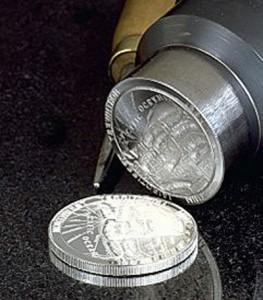 Silver bullion-mynt från US Mint