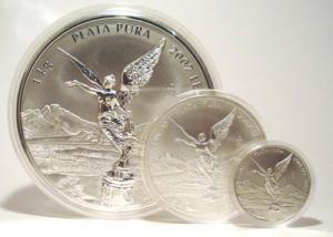 Silvermynt gjorda år 2007