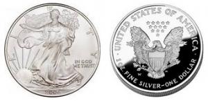 Silvermynt stiger i pris