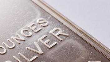Silverpriset i fallande trend