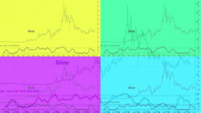 Silverpriset i en fallande trend