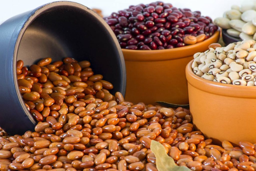 Sojabönor i skålar