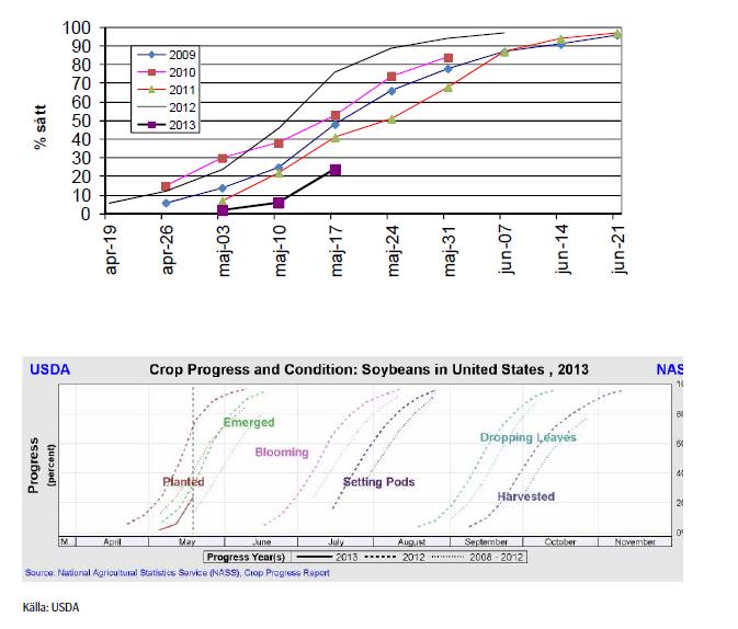 Sådd- och odlings-rapport för sojabönor