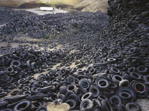 Soplager av bildäck gjorda av naturgummi