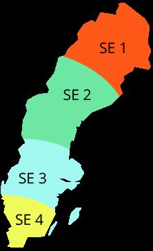 Indelning Sveriges elprisområden
