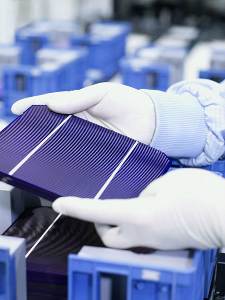 Tillverkning av solceller för energiproduktion