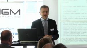 Ulrik Jansson, VD på Crown Energy, presenterar företaget