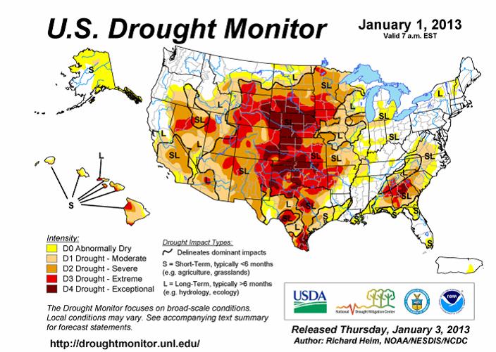 U.S. Drought Monitor - Karta USA