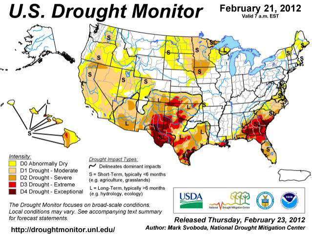 US Drought Monitor - Väder USA
