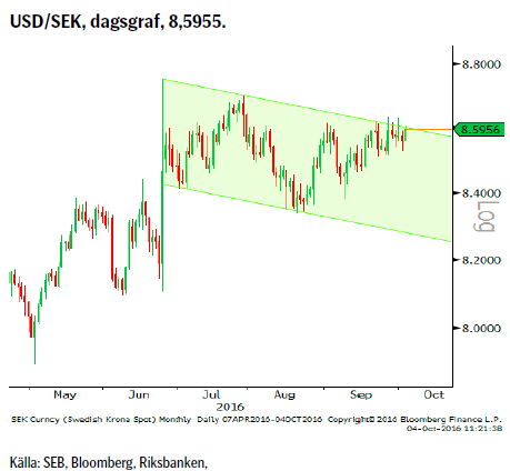USD/SEK, dagsgraf, 8,5955.