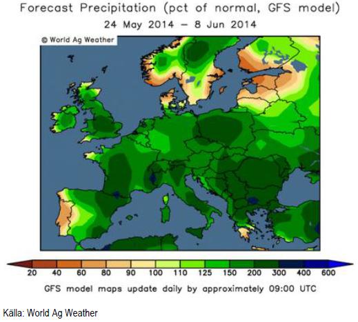 Väderprognos i Europa