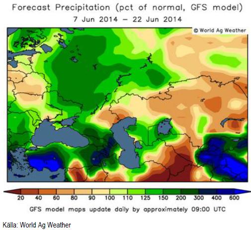 Väderprognos för odling