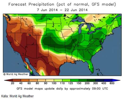 Väderprognos USA