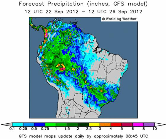 Väderprognoser för Brasilien