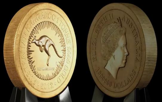 Världens största guldmynt från The Perth Mint