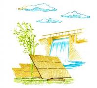 Vattenkraft och solenergi producerar el
