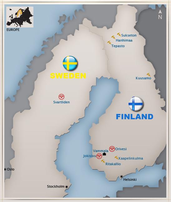 sverige och finland karta Dragon Mining, going from down under till Nordens malmfynd sverige och finland karta